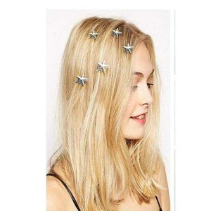 Star Spiral Hair Pins (Silver)